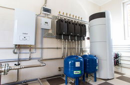 Монтаж системы отопления в коттедже Королев
